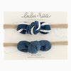 NAVY & NAVY STRIPE KNOTTED BOW