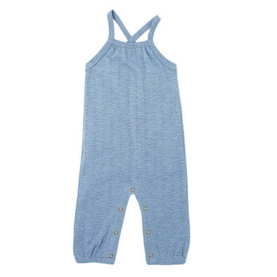 ORGANIC POINTELLE ROMPER IN POOL