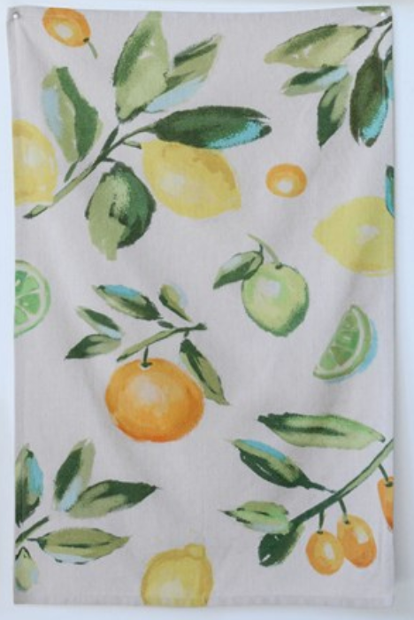 COTTON TEA TOWEL WITH CITRUS