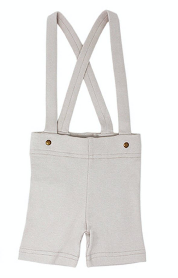SUSPENDER SHORTS-LIGHT GRAY