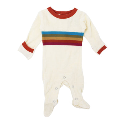 TERRY CLOTH FOOTIE-MAPLE