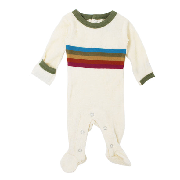 TERRY CLOTH FOOTIE-SAGE