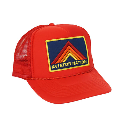 MOUNTAIN STRIPE LOW RISE TRUCKER HAT