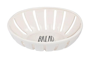RAE DUNN STEM PRINT BREAD BASKET