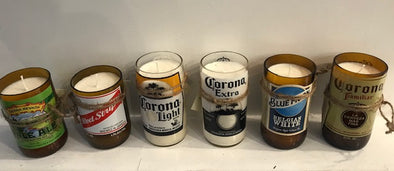 HOMEMADE BEER BOTTLE SOY CANDLE