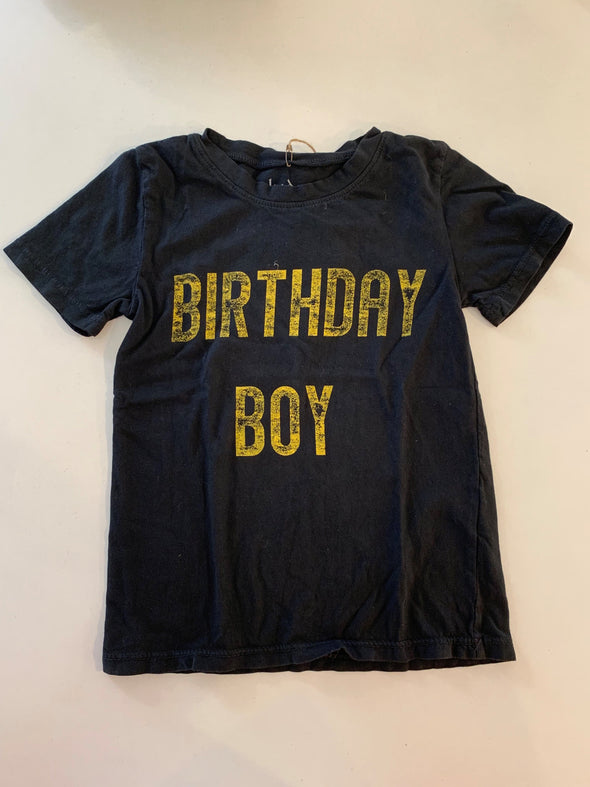 BIRTHDAY BOY TEE - BLACK
