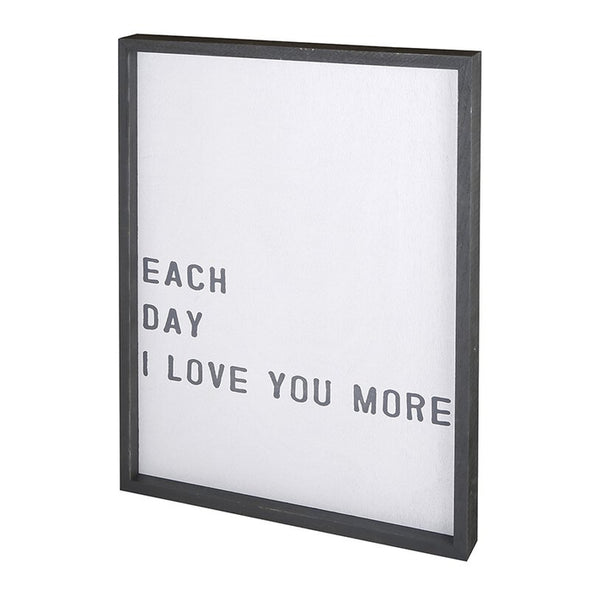 EACH DAY I LOVE YOU MORE FRAMED WALL ART