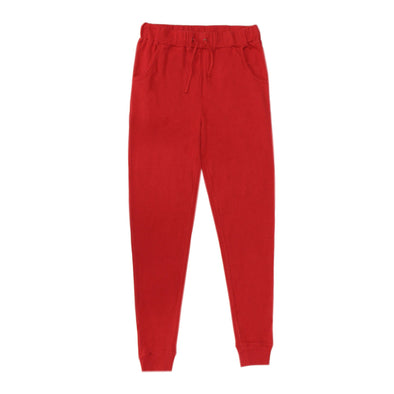 ORGANIC THERMAL MEN'S JOGGER PANTS - CHERRY
