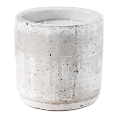 LEAVES DOUBLE WICK CONCRETE CANDLE
