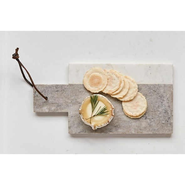 MARBLE CHEESEBOARD WITH LEATHER TIE