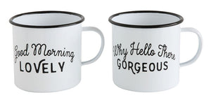ENAMELED MUG W/SAYING - 2 STYLES