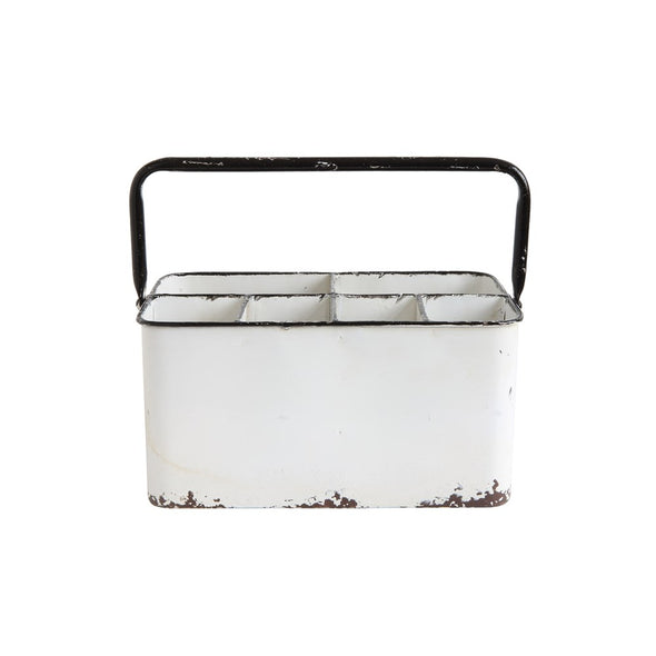 DISTRESSED ENAMEL METAL CADDY