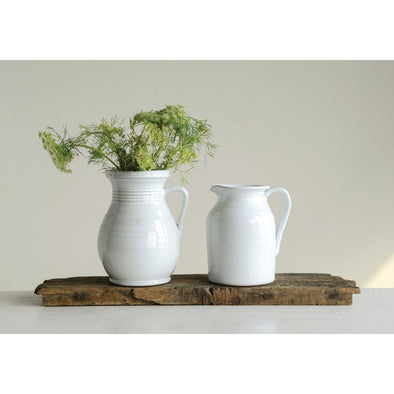 TERRA-COTTA PITCHER - WHITE
