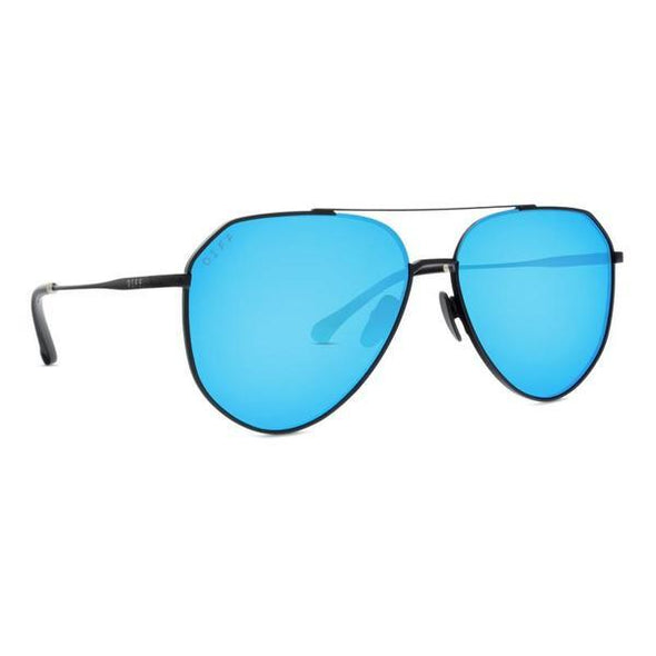 DASH MATTE BLACK + BLUE MIRROR POLARIZED LENS