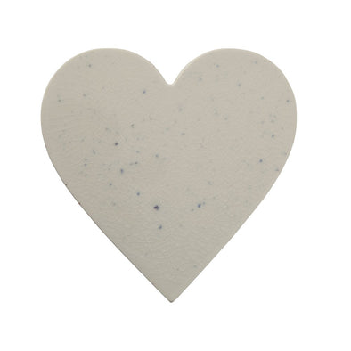 PORCELAIN HEART CHEESE/CUTTING BOARD - MARBLE GLAZE