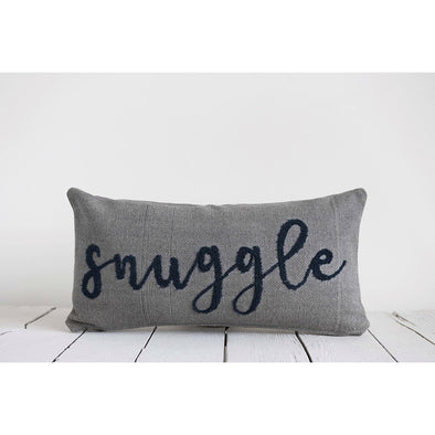 WOVEN COTTON 'SNUGGLE' PILLOW