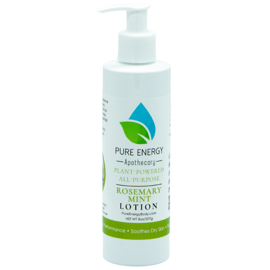 NATURAL HAND AND BODY LOTION 8 OZ (ROSEMARY MINT)