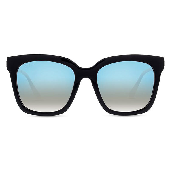 BELLA - BLACK + BLUE FLASH POLARIZED LENS