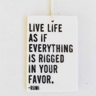 LIVE LIFE PORCELAIN WALL TAG