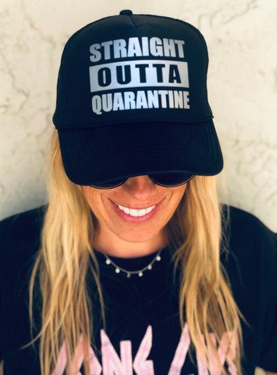 STRAIGHT OUTTA QUARANTINE TRUCKER HAT