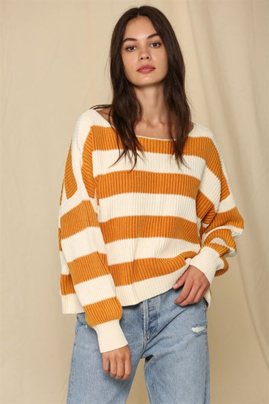 STONE WASH KNIT SWEATER