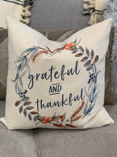 GRATEFUL THANKFUL PILLOW