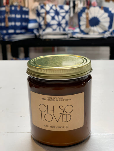 'OH SO LOVED' CANDLE