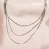 CUBED LAYERED NECKLACE: SILVER