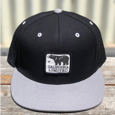BLACK AND SILVER BEAR HAT