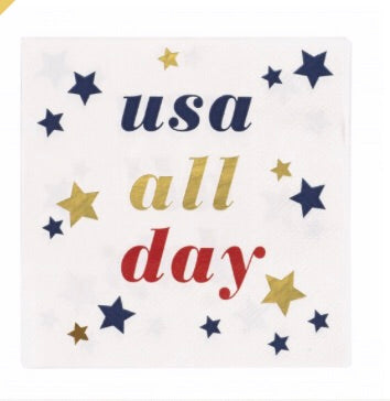 BEVERAGE NAPKIN - USA ALL DAY