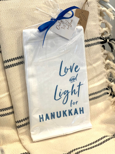 LOVE AND LIGHT FOR HANUKKAH TOWEL