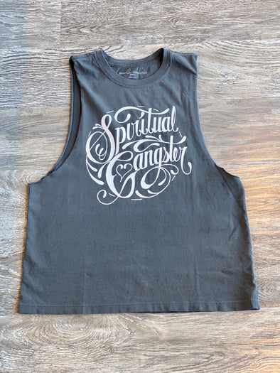 GANGSTER ROCKER TANK - VINTAGE BLACK