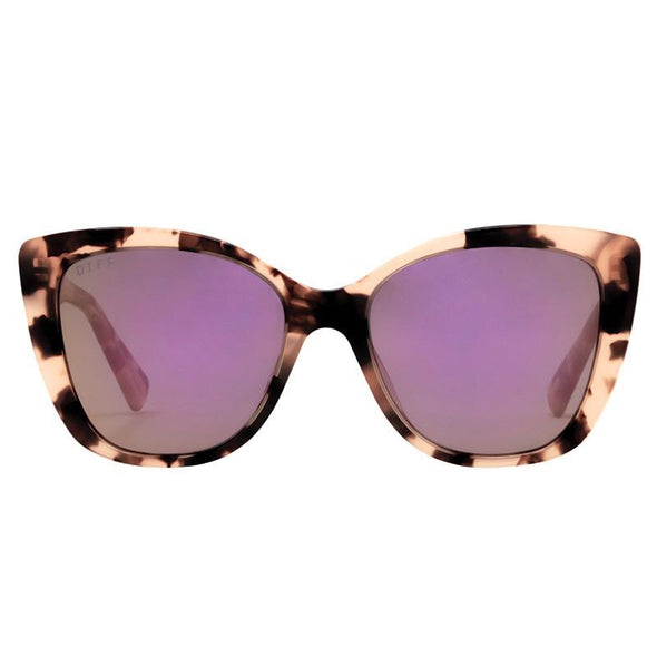 PIPER - RUBY HIMALAYAN TORTOISE + TAUPE FLASH MIRROR POLARIZED LENS