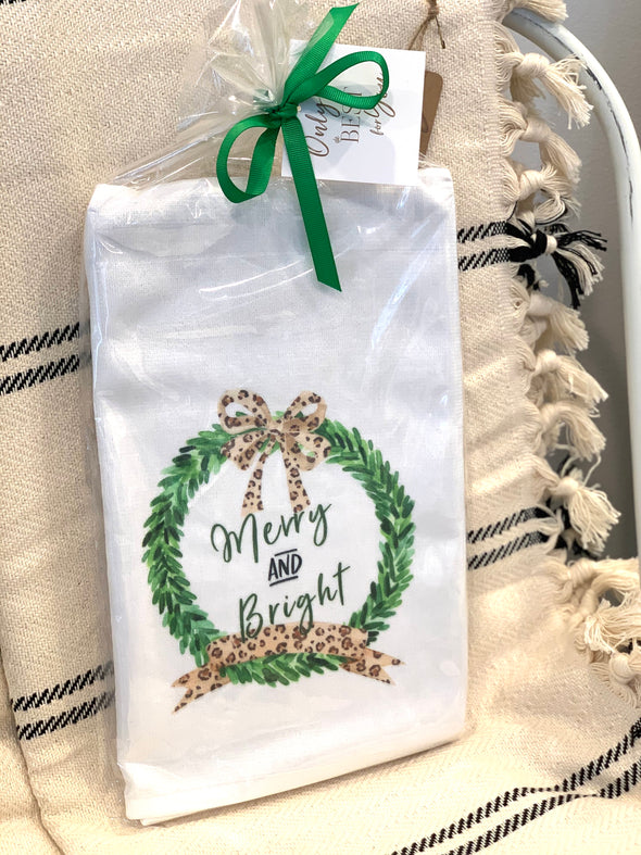 MERRY AND BRIGHT TOWEL