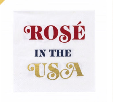 BEVERAGE NAPKIN (20Ct) -ROSE IN THE USA