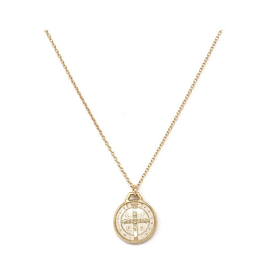 ST BENEDICT WHITE NECKLACE
