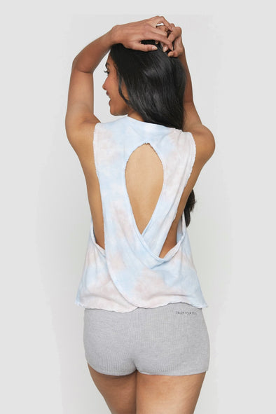 SG SURPLICE BACK SWING TANK - CLOUD TIE DYE