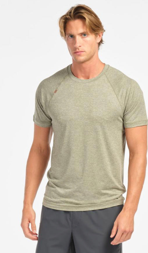 REIGN SHORT SLEEVE - SEA SPRAY HEATHER