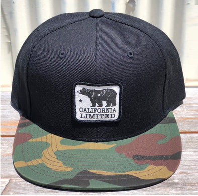 BLACK AND CAMO BEAR HAT