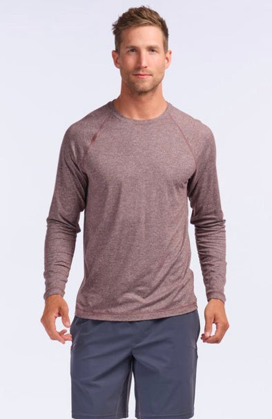 ATHLETIC LONG SLEEVE SHIRT -  BLACK COFFEE HEATHER