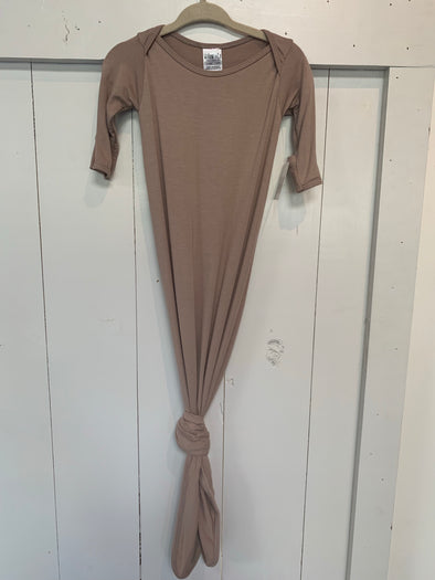 KNOTTED SLEEP GOWN - MOCHA