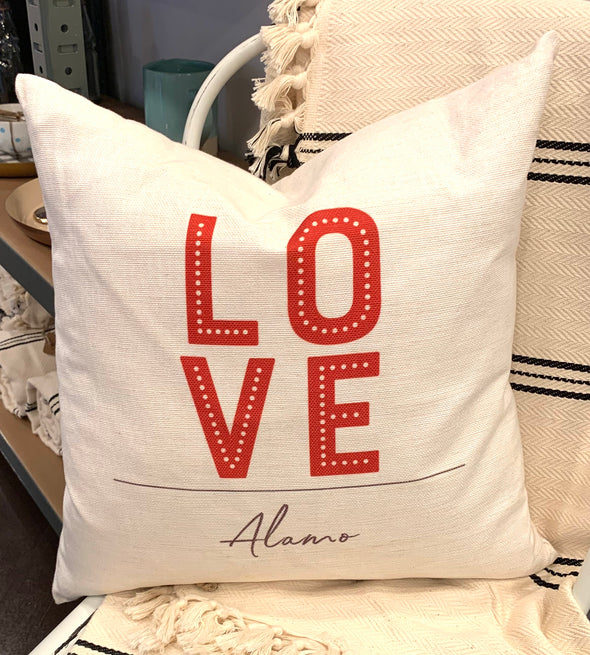 LOVE ALAMO PILLOW