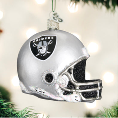 OAKLAND RAIDERS HELMET ORNAMENT