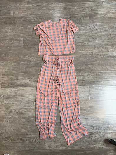 ALL AMERICAN PANT PJ SET - WISH LIST CHECK