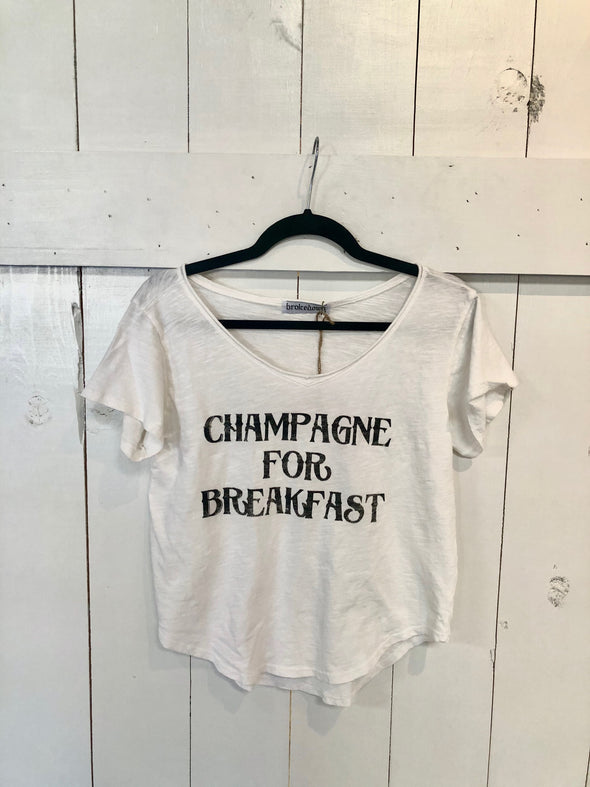 CHAMPAGNE FOR BREAKFAST CREW - WHITE