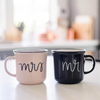 MR. + MRS. CAMPFIRE COFFEE MUG SET