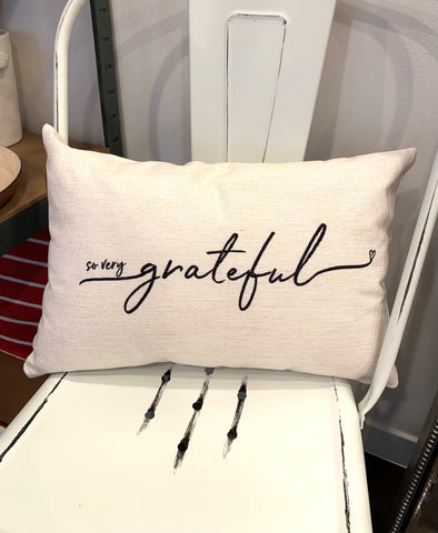SO VERY GRATEFUL PILLOW
