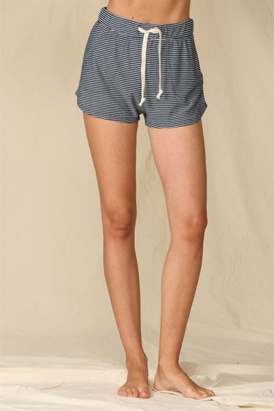 KNIT HACCI STRIPED SHORTS
