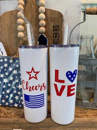 4TH OF JULY TALL CUPS