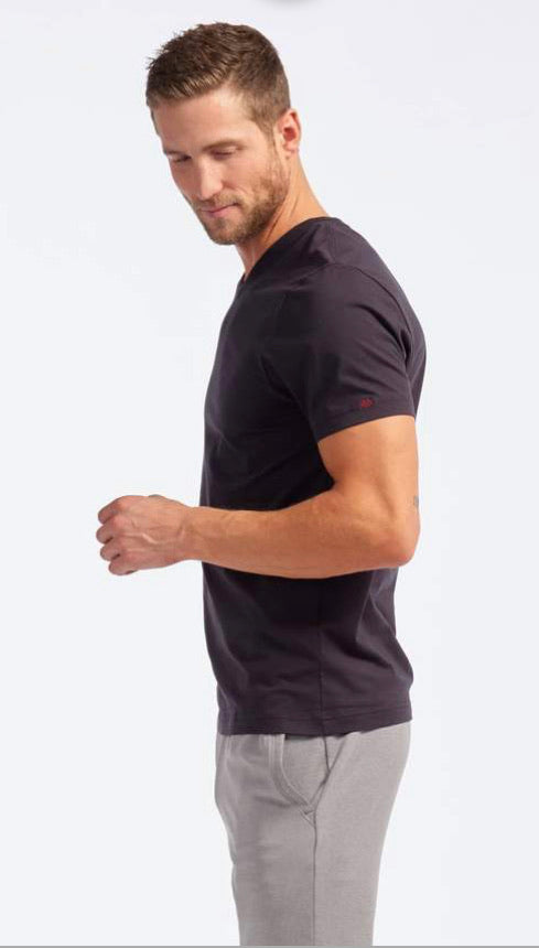 ELEMENT V NECK TEE - BLACK